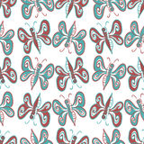 Abstract butterfly pattern. Seamless pattern with abstract butterfly shapes, illustration and vector art Royalty Free Stock Photo