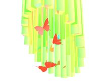 Abstract butterfly poster Royalty Free Stock Image