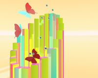 Abstract butterfly poster Royalty Free Stock Photo