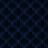 Abstract butterfly seamless pattern. Colored geometric figures on black background Royalty Free Stock Photography
