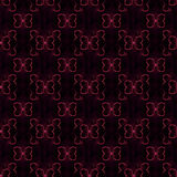 Abstract butterfly seamless pattern. Colored geometric figures on black background. Purple Royalty Free Stock Photography