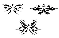 Abstract butterfly tattoo Royalty Free Stock Photos