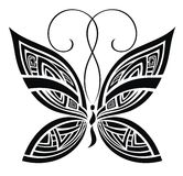 Abstract butterfly. Vector for your design. Stylized abstract butterfly tattoo design stock illustration