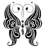 Abstract butterfly. Vector for your design. Stylized abstract butterfly tattoo design vector illustration