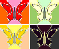 Abstract butterfly wallpaper Royalty Free Stock Photos