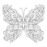 Abstract butterfly on white background Stock Photos