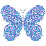 abstract butterfly on white background Stock Photography