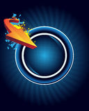 Abstract button and arrow Royalty Free Stock Image