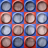 Abstract button pattern - seamless pattern - red-blue color - wo Royalty Free Stock Photos