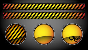 Abstract buttons and lines Royalty Free Stock Photos