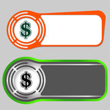 Abstract buttons. Set of two abstract buttons for your text and dollar symbol Royalty Free Stock Images