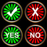 Abstract buttons yes and no Royalty Free Stock Images