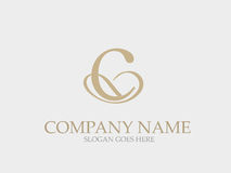 Abstract C  Letter Monogram Elegant Logo Design Royalty Free Stock Image