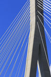 Abstract Cable stayed bridge Stock Images