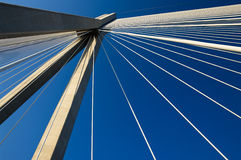 Abstract cable suspension bridge Stock Photography