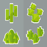Abstract cactus flat style. Royalty Free Stock Image