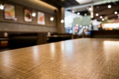 Abstract cafe coffee shoop restaurant blur background with bokeh. Abstract cafe coffee shoop restaurant table with blur background with bokeh light Stock Photo