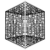 Abstract Cage Vector 09 Royalty Free Stock Images