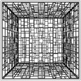 Abstract Cage Vector 11. Abstract Cage Constructions Isolated Illustration Vector Stock Photo