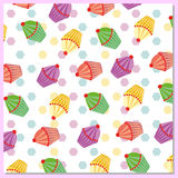 Abstract cakes pattern Stock Images
