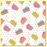 Abstract cakes pattern Royalty Free Stock Photo
