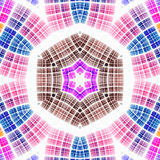 Abstract caleidoscopisch patroon Stock Afbeeldingen