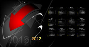 Abstract calendar 2012 Stock Photography