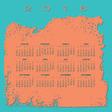 2016 Abstract calendar. In beach colors royalty free illustration