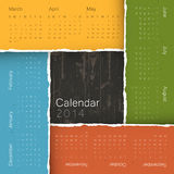 Abstract calendar by seasons, 2014. Vector. EPS10 royalty free illustration