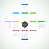 Abstract 2015 Calendar Stock Image