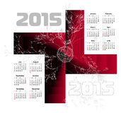 Abstract 2015 Calendar. Vector illustration vector illustration