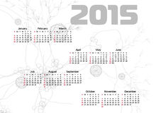Abstract 2015 Calendar. Vector illustration Stock Images