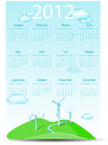 Abstract calendar wind turbines Royalty Free Stock Photography