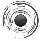 Abstract camera. Lens and button Stock Image