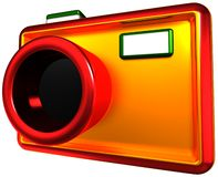 Abstract camera. 3d render isolated on white Stock Photo