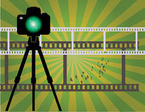 Abstract camera background Royalty Free Stock Images