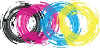 Abstract camera lens. Cmyk abstract camera lens background Royalty Free Stock Photos
