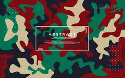 Abstract camo modern background royalty free illustration