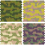 Abstract camouflage from hexagons Royalty Free Stock Photography