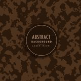 Abstract camouflage pattern in brown shade. Vector Royalty Free Stock Photo