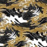 Abstract camouflagepatroon royalty-vrije illustratie
