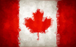 Abstract CANADA flag polygon Royalty Free Stock Images