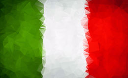 Abstract Italy flag polygon Royalty Free Stock Image