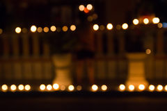 Abstract of candlelights Stock Photo