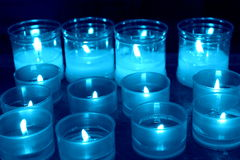 Abstract candles. Candles lit for the hope and prayer royalty free stock photo