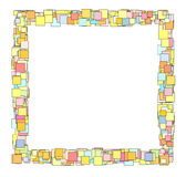 Abstract candy color square plane frame Royalty Free Stock Images