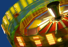 Abstract Canival Ride. Blurred motion of a spinning ride at the fair Stock Image