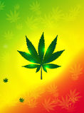 Abstract Cannabis Background Vector Illustration Stock Photography
