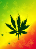Abstract Cannabis Background Vector Illustration Royalty Free Stock Image