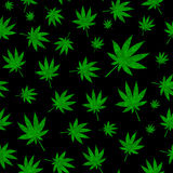 Abstract Cannabis Seamless Pattern Background Vector Illustratio Stock Photo